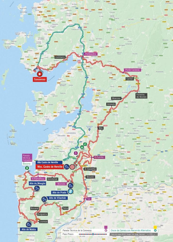 20e étape - Carte - Tour d'Espagne Vuelta 2021