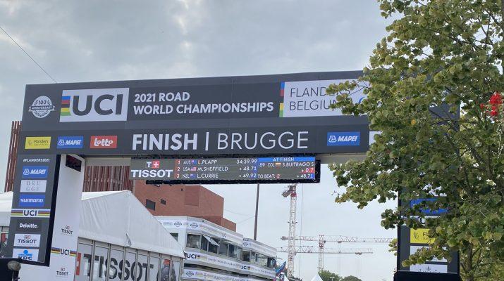 Panneau Championnats du monde 2021 à Bruges - Flandre 2021 - Grégory Ienco