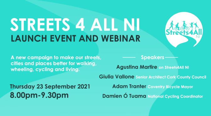Streets4All Northern Ireland – Launch Event