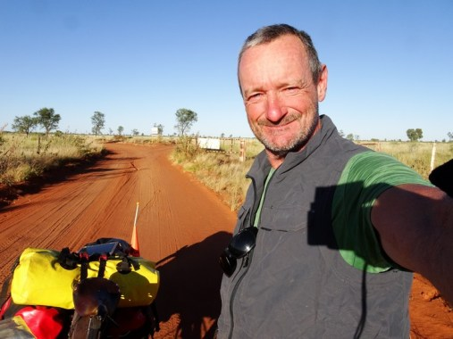 Me just north of the Nyarna turn-off heading towards Billiluna on the Canning Stock Route