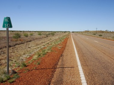 Halls Creek 10 km. Quite a difference from when it was in the hundreds