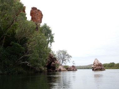 Peican Rock, to the right of the photo