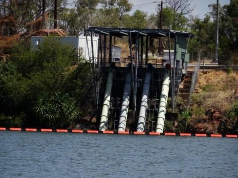 Ord River irrigation pump station