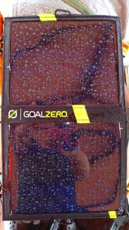 Goal Zero tell me it's rain proof. Guess I am finding out