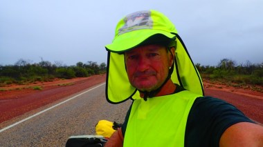 I wore my safety vest back to front to improve wind protection. It was actually quite chilly!