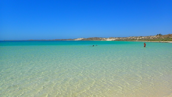 Coral Bay's justifiably famous beach