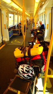 I took the train for the 80 km trip from WIl's place in Mandurah to Perth