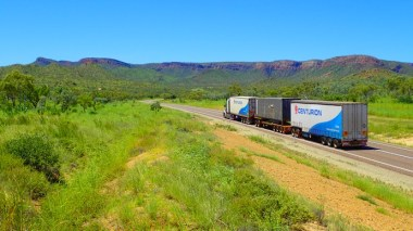 No point in a roadtrip without including roadtrains into the scenary