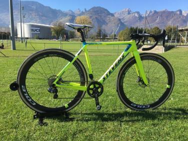 In 2017/18 Rouiller rode the Stevens Superprestige CX Bike with Cole Wheels