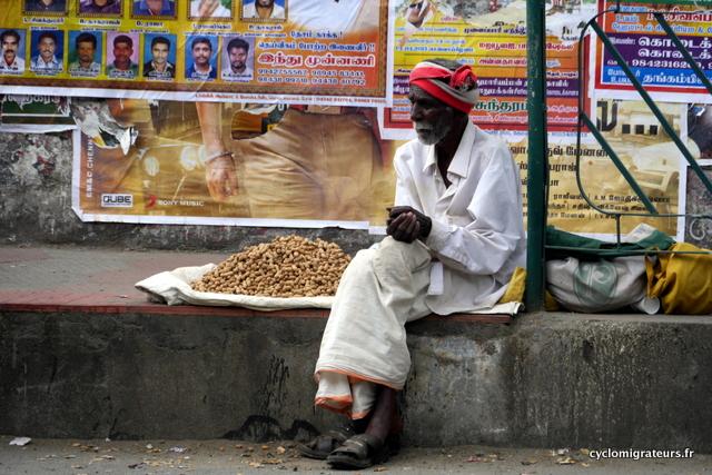 Vendeur de cacahuetes à Trichy