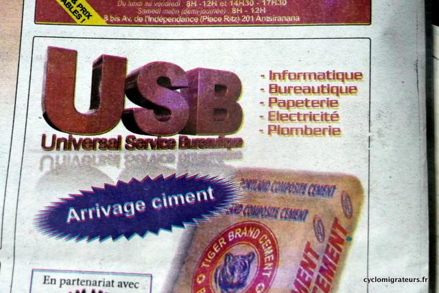 Ciment USB
