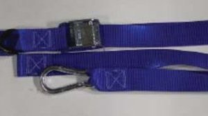 "1.5 inch Cam Buckle Tiedown with ""S"" Hook, Carabiner and Soft Loop"