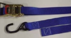 """1.5 inch Ratchet Tiedown with """"S"""" Hooks"""