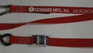 """1 inch Cam Buckle Tiedown with """"S"""" Hook and Carabiner"""