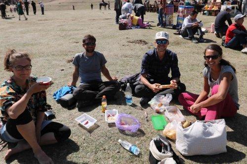 Avec Judith, Pauline et Léo