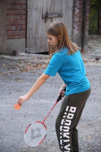 Badminton avec Noah