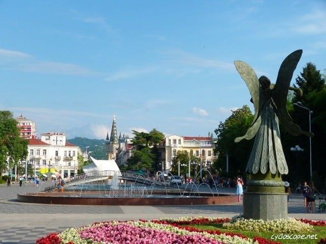 Cicloturismo in Georgia. Città di Batumi