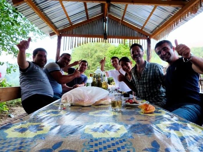 Azerbaijan dinner road Xinaliq