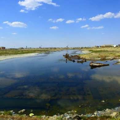 Aralsk port - Aral Sea