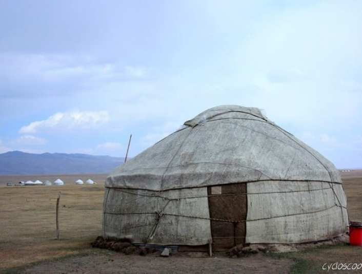 bicycle touring kyrgyzstan song kul