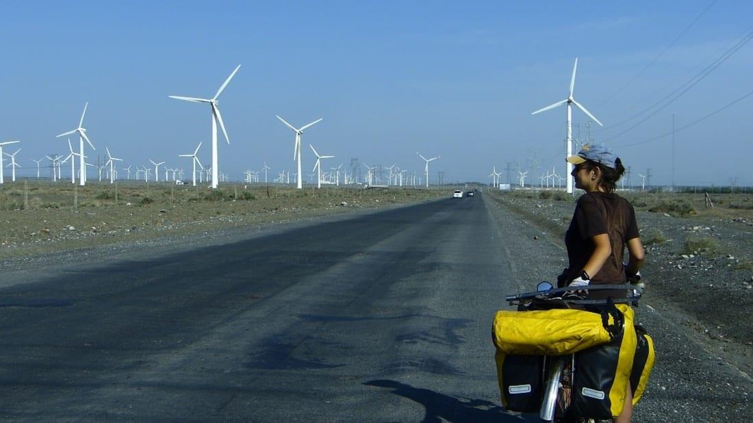 cicloturismo xinjiang gobi taklamakan energia verde