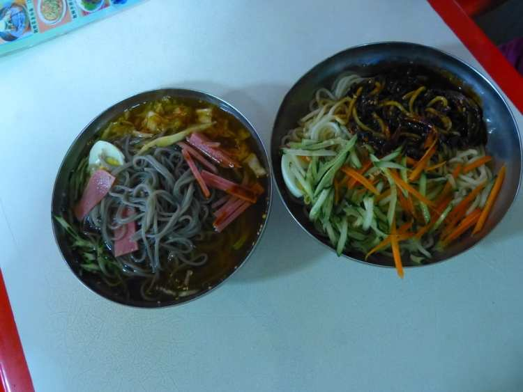 North Korea cold noodles dunhuang