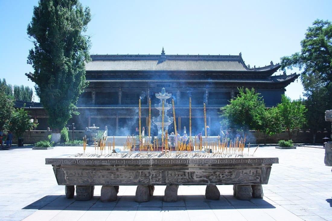 Il templio del Budda gigante in Gansu