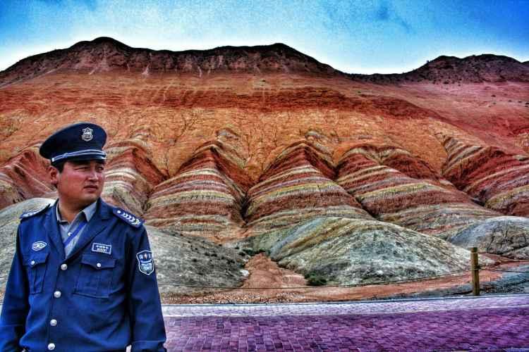 Danxia Shan Zhangye China Rainbow mountains