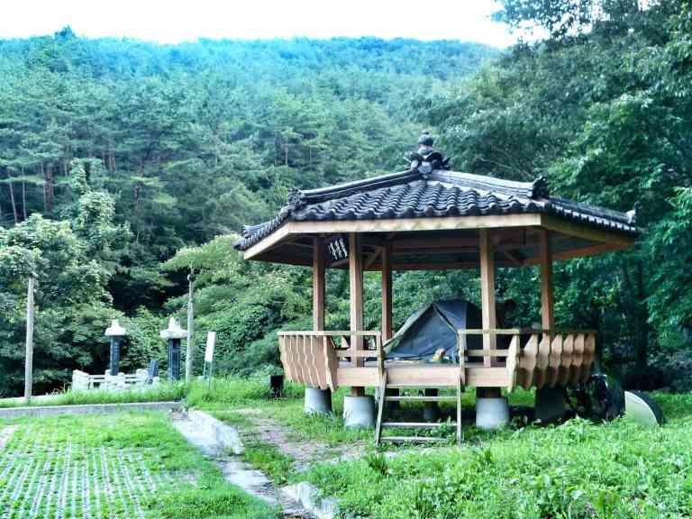 cycling camping korea