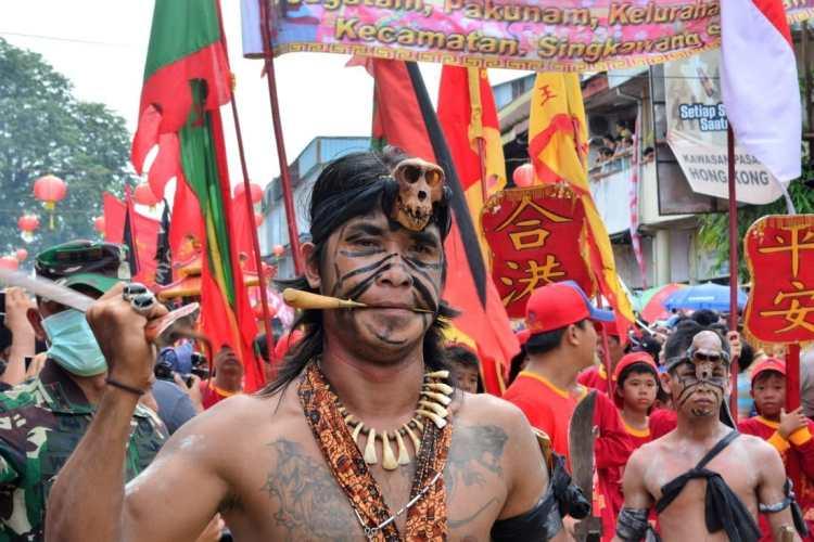 Dayak Chap Go Meh Singkawang Borneo