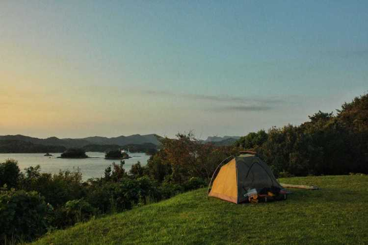 free wild camping in japan