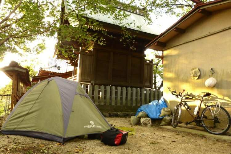 campeggio libero viaggio in Giappone
