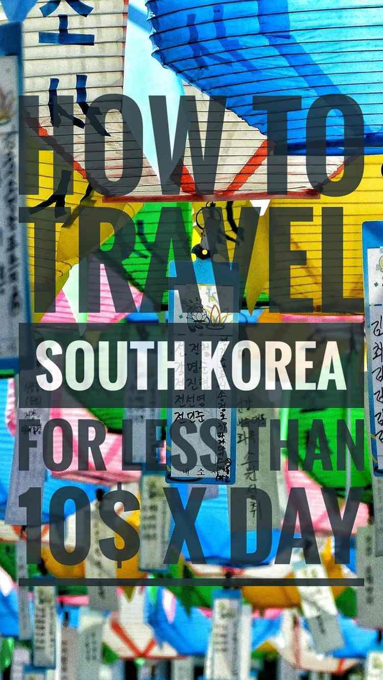 budget travel south korea