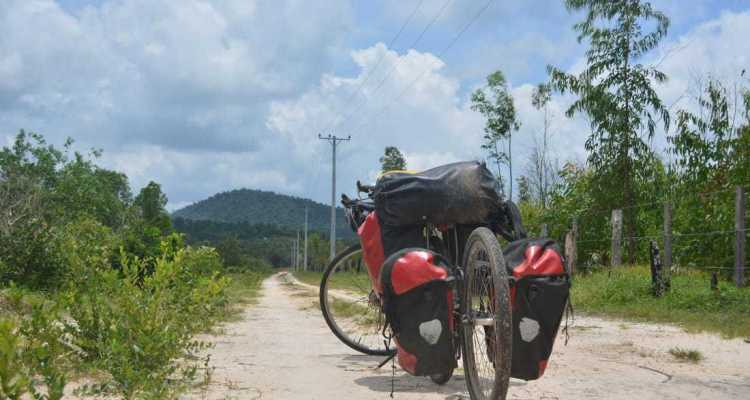 bicycle touring in Cambodia