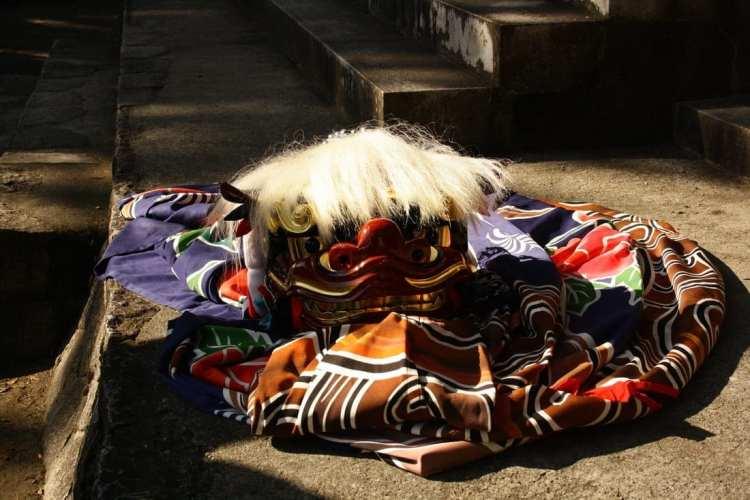 costume danza del leone shirakawa giappone