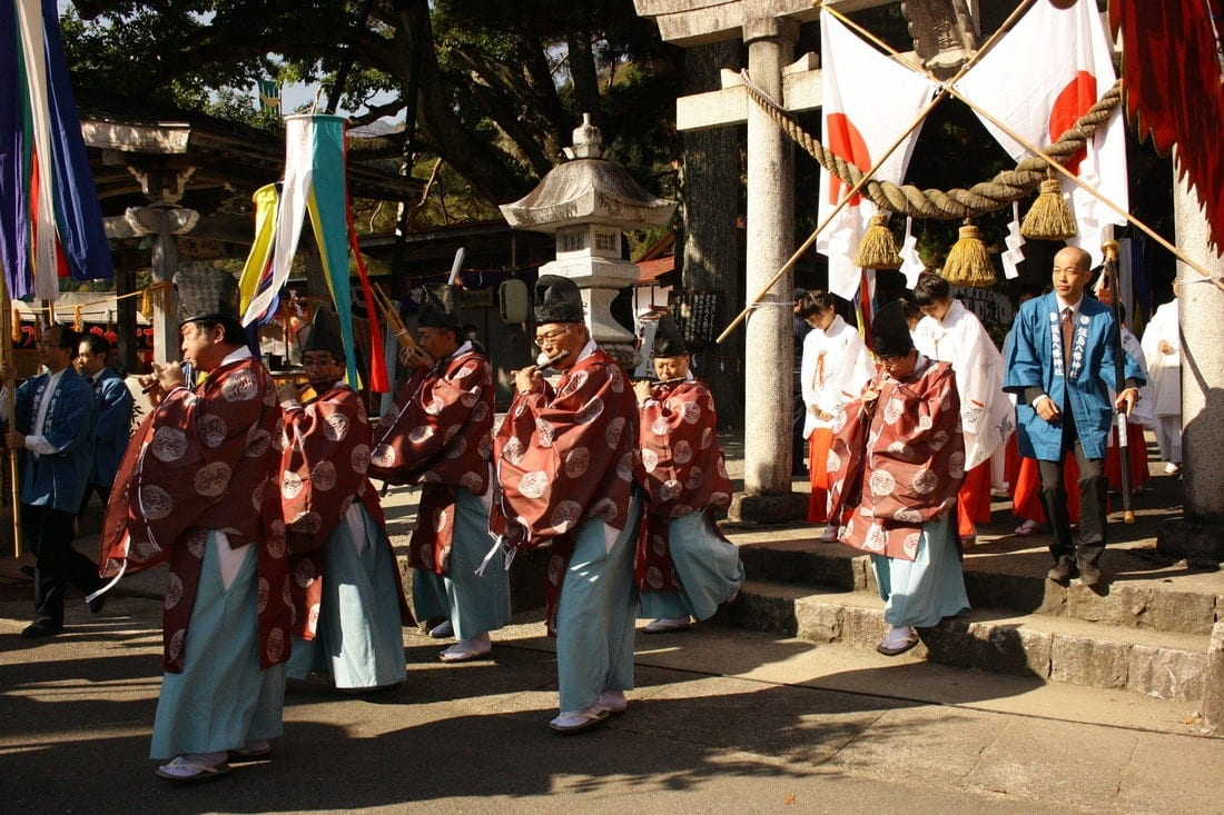 traditional Japanese music at doburoku matsuri shirakawa