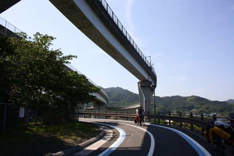 Shimanami Kaido bicycle highway Japan