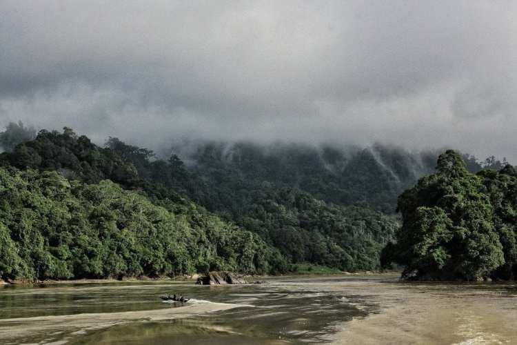 Rajang river cruise Borneo