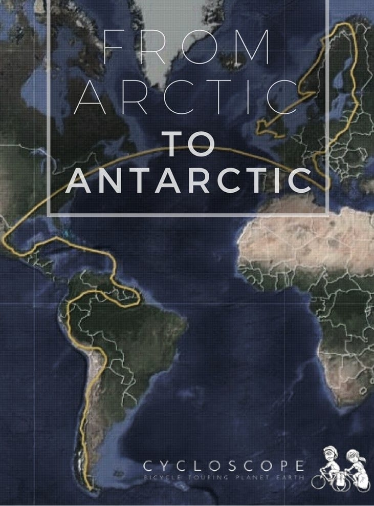 From Arctic to Antarctic by bicycle