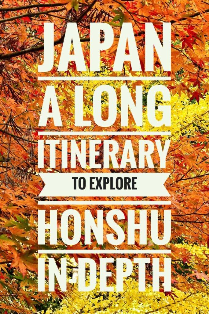 honshu itinerary japan