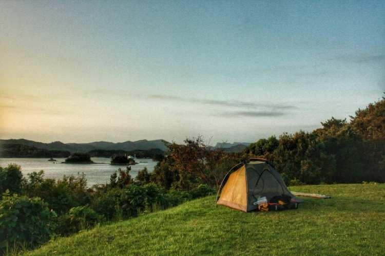 cicloturismo campeggio libero kyushu giappone