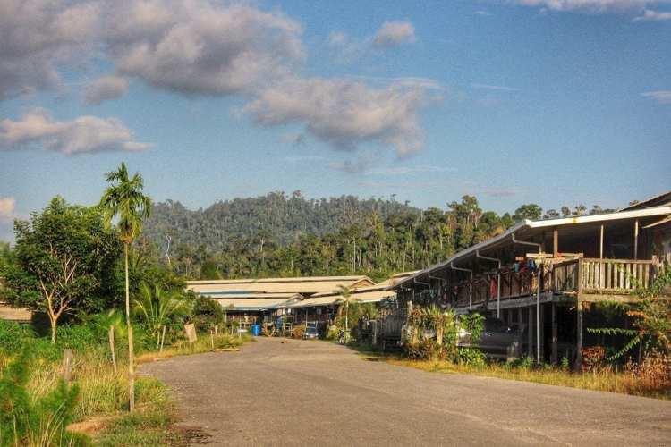 Malaysian Kenyah Longhouse Borneo
