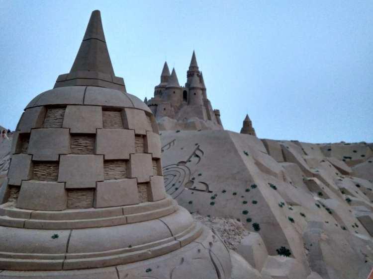 le sculture di sabbia a Zhejiajian