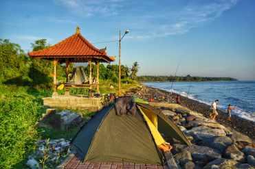 campeggio libero a Bali