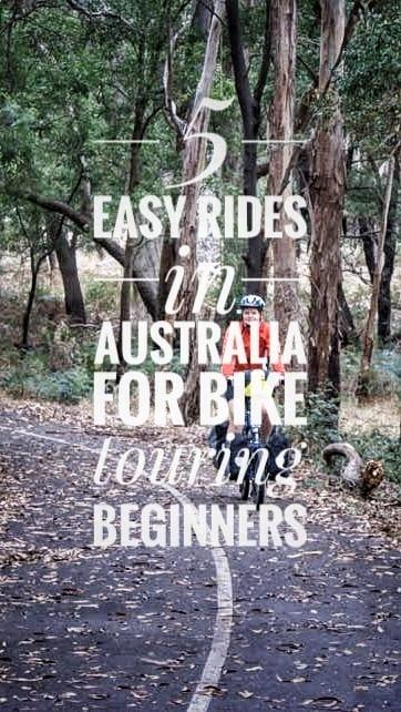 easy rides Australia bike touring beginners