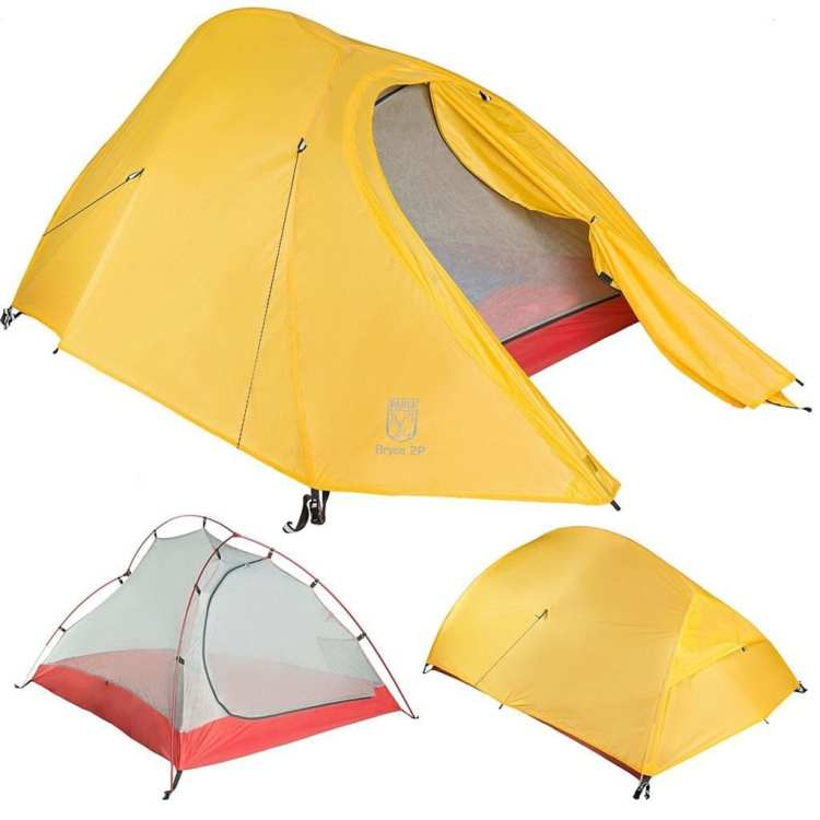 bicycle touring tent Bryce 2P Two Person Ultralight with Footprint