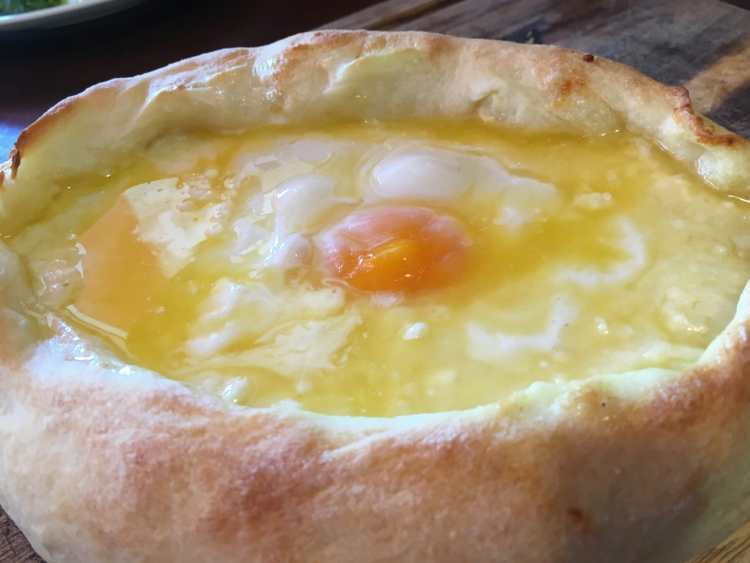 best georgian food Adjurali Khachapuri