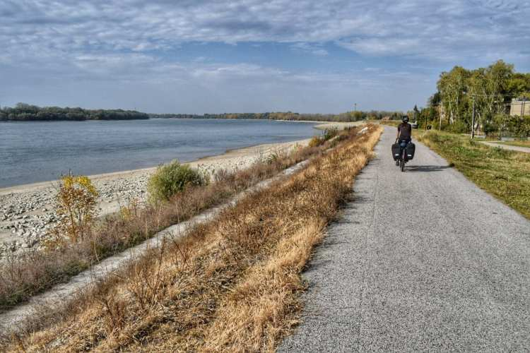 Slovakia danube river cycling path