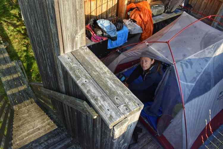wild camping finland shelter birdwatch tower
