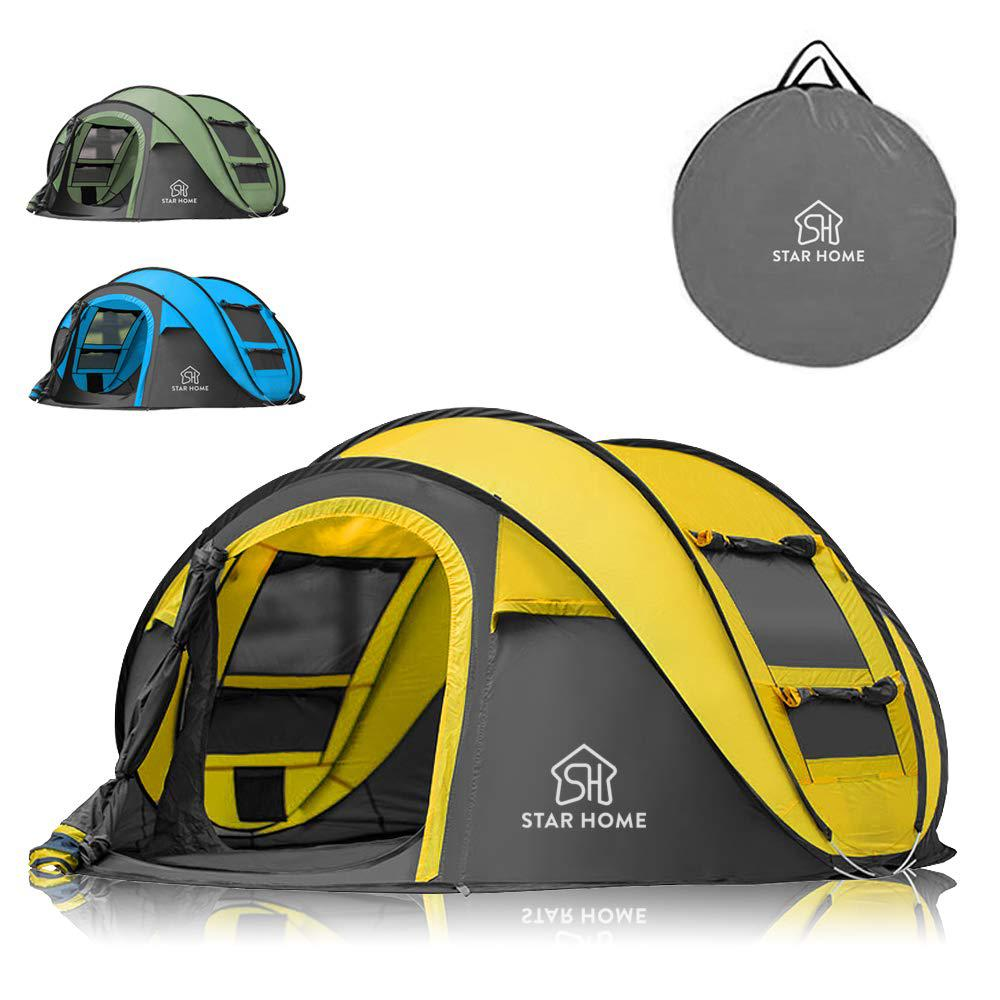 New 6 Person Man Family Dome Large Camping Tent Travel Festival Group Waterproof